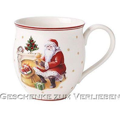 Villeroy Amp Boch Toys Delight Becher Mit Henkel Santa Am Kamin 4861 Henkelbecher Becher Villeroy Kuchen Helfer