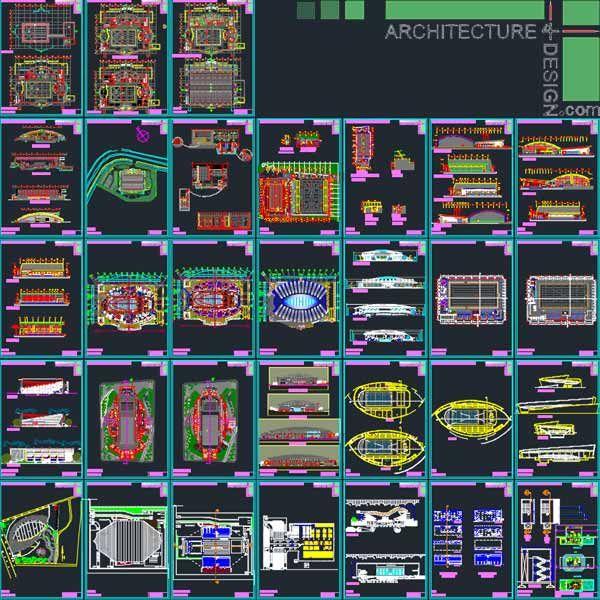 Sport Complex Swimming Pool Architecture Design Autocad