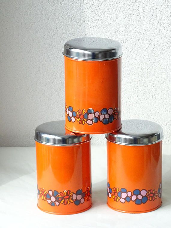 Retro Tins Retro Kitchen Canisters Seventies Kitchen : retro storage tins kitchen  - Aquiesqueretaro.Com