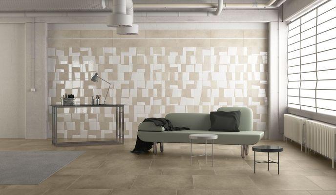 Herberia ceramiche Timeless Industrial_Chic_Soggiorno , Salle de ...
