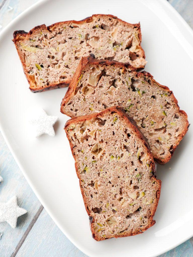 Low Carb Kuchen Mit Zucchini Apfel Und Mandeln Rezept Breads