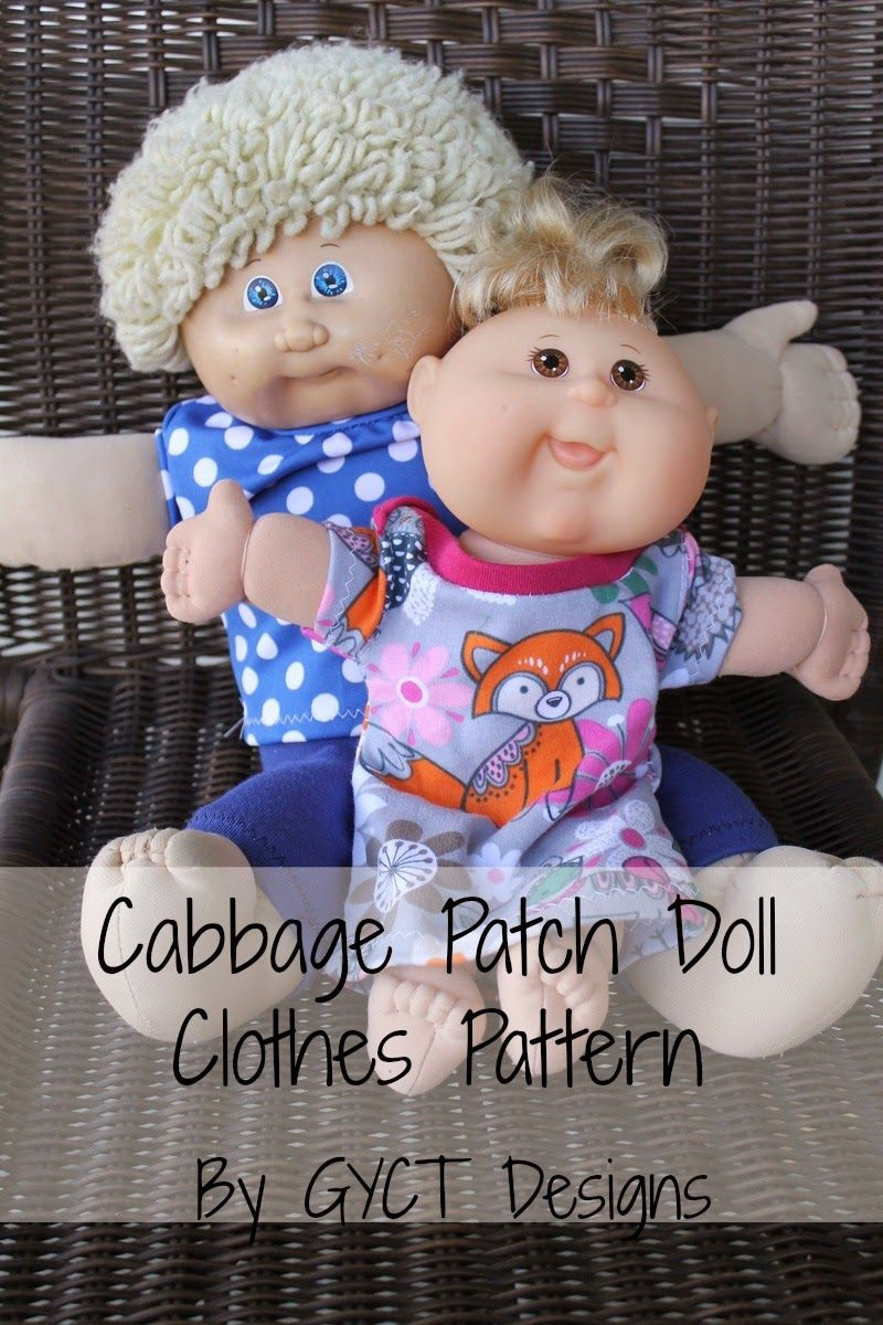 How to Create Cabbage Patch Doll Clothes - Free Pattern | ~Sewing ...