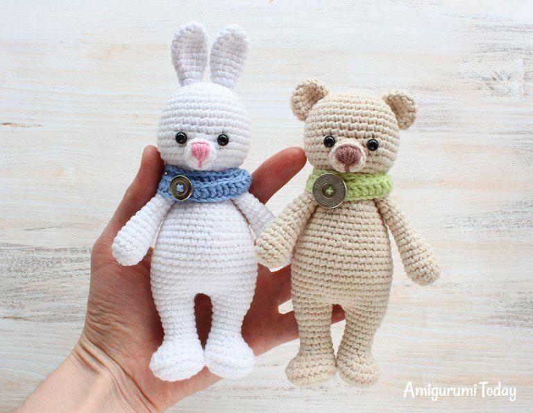 Cuddle Me Bunny and Bear crochet patterns | nidiamiguru | Pinterest