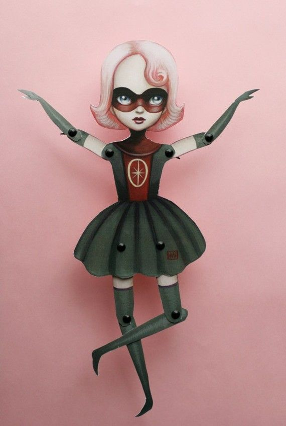 Lola Mae - articulated paper doll kit by Mab Graves
