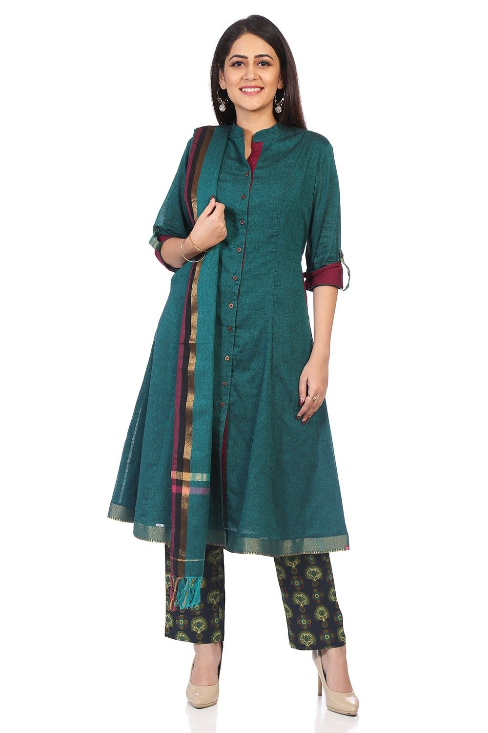 1f94b5da725f The Perfect Party Wear Kurtha Suit Sets Are Here To Shop! | Blue sky ...