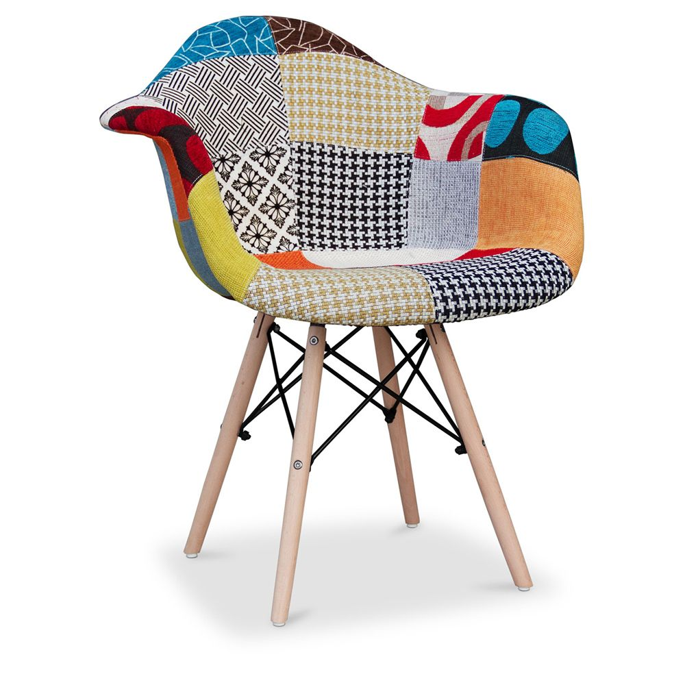 Chaise Dsw Rembourree Chaise Daw Charles Eames Patchwork Amy Скандинавские