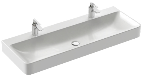 Variante vasque poser 120 x 45 cm sans trou de trop - Joint pret a poser salle de bain ...