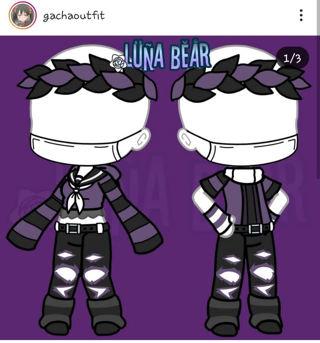 This Is A Beautiful And Cool Purple Clothing For A Gacha Life Character But It Can Be Also Applied To Real Drawin Anime Outfits Character Outfits Manga Clothes