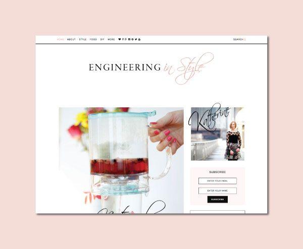 Engineering in Style Blog Design by White Oak Creative - logo design ...