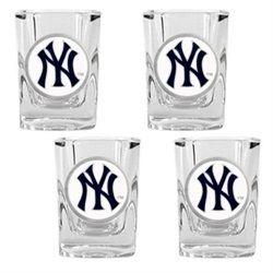 New York Yankees Ny Shot Glasses Set Of 4 Shot Glass Set