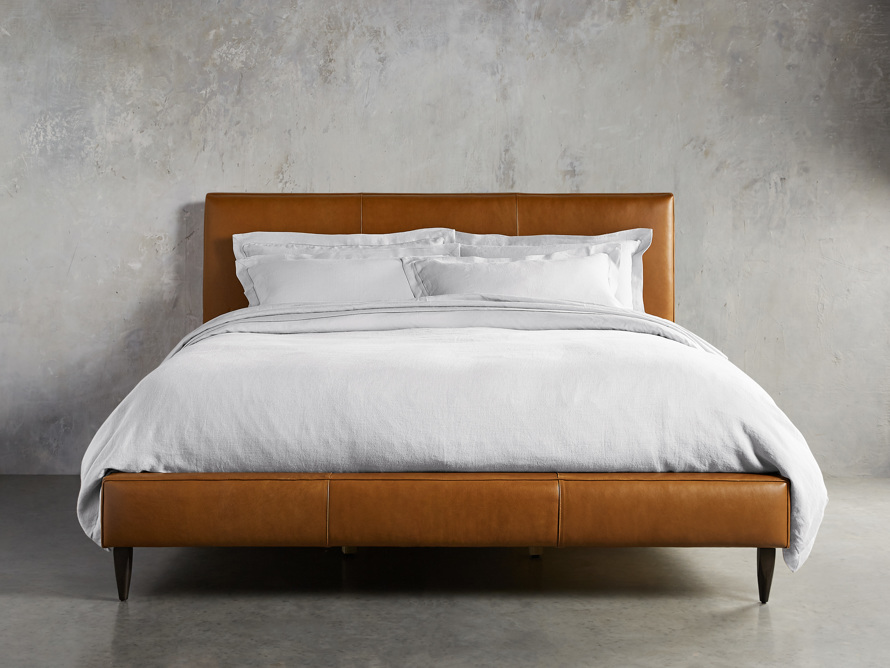 Andes Leather Bed Arhaus Furniture Leather king beds
