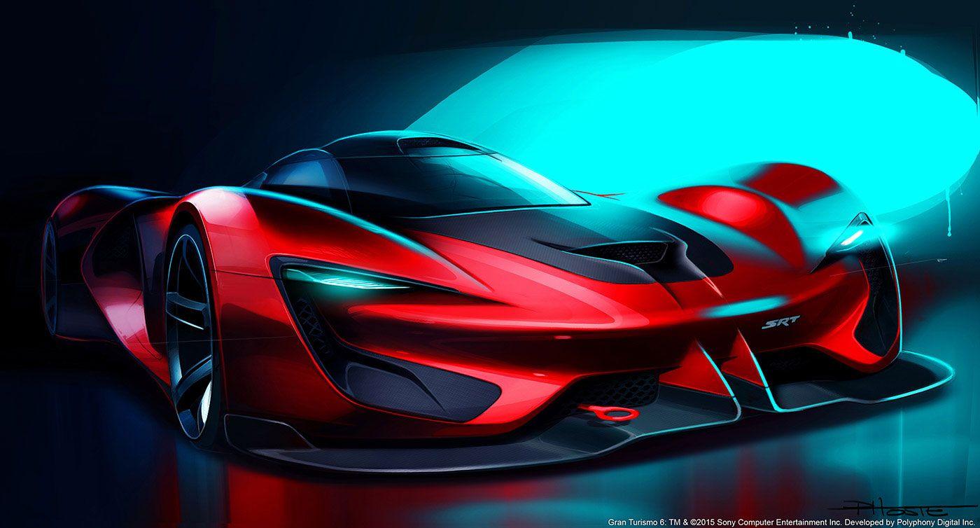 SRT Tomahawk Vision Gran Turismo Design Sketch Render