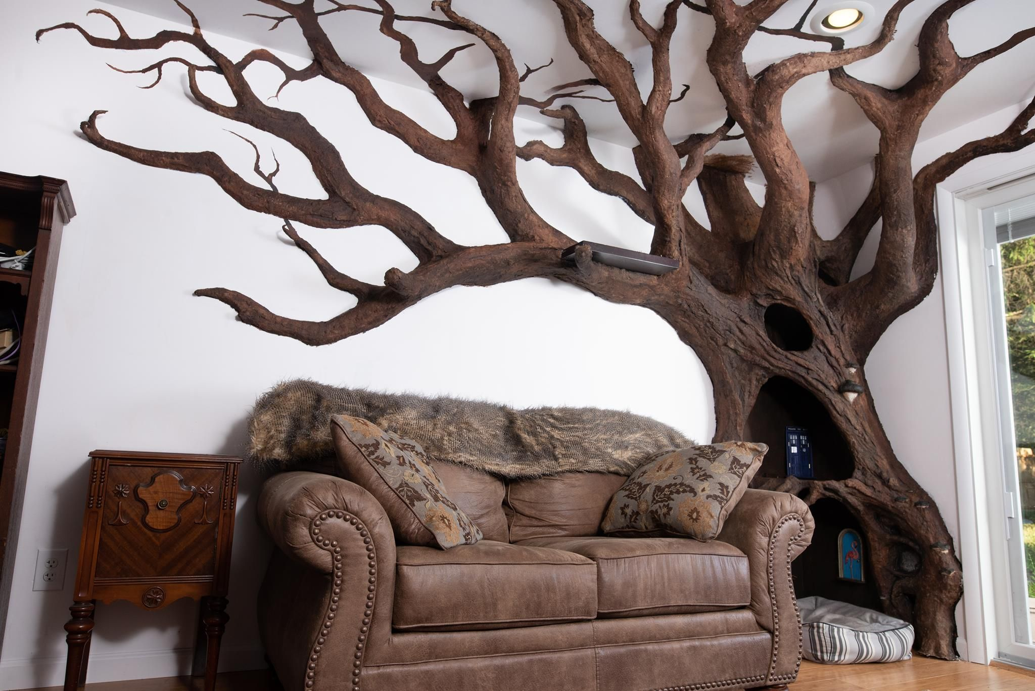 Pin By Irene C On Dream Home Ideas Custom Cat Trees Tree Sculpture Cat Tree