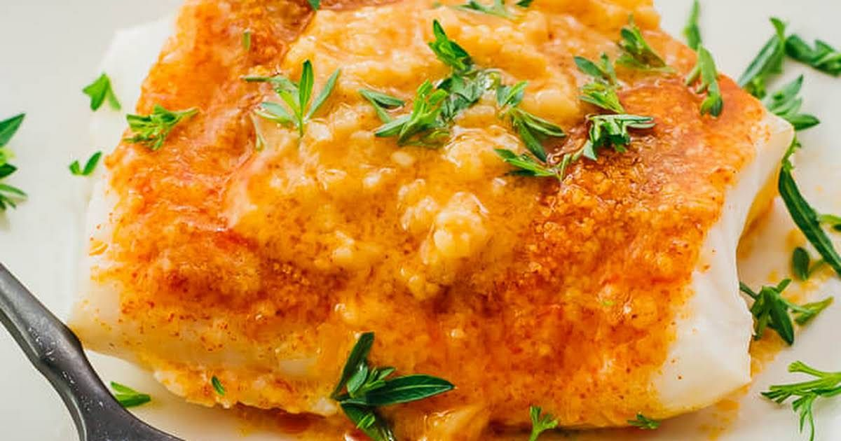 Baked Cod Low Carb Keto Recipe Yummly Recipe Baked Cod Cod Fillet Recipes Frozen Cod Fillet Recipe