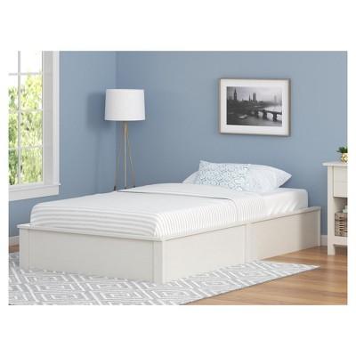 Austin Queen Platform Bed Frame Vintage White Ameriwood Home In 2019 Queen Platform Bed Frame Bed Frame Platform Bed Frame Full