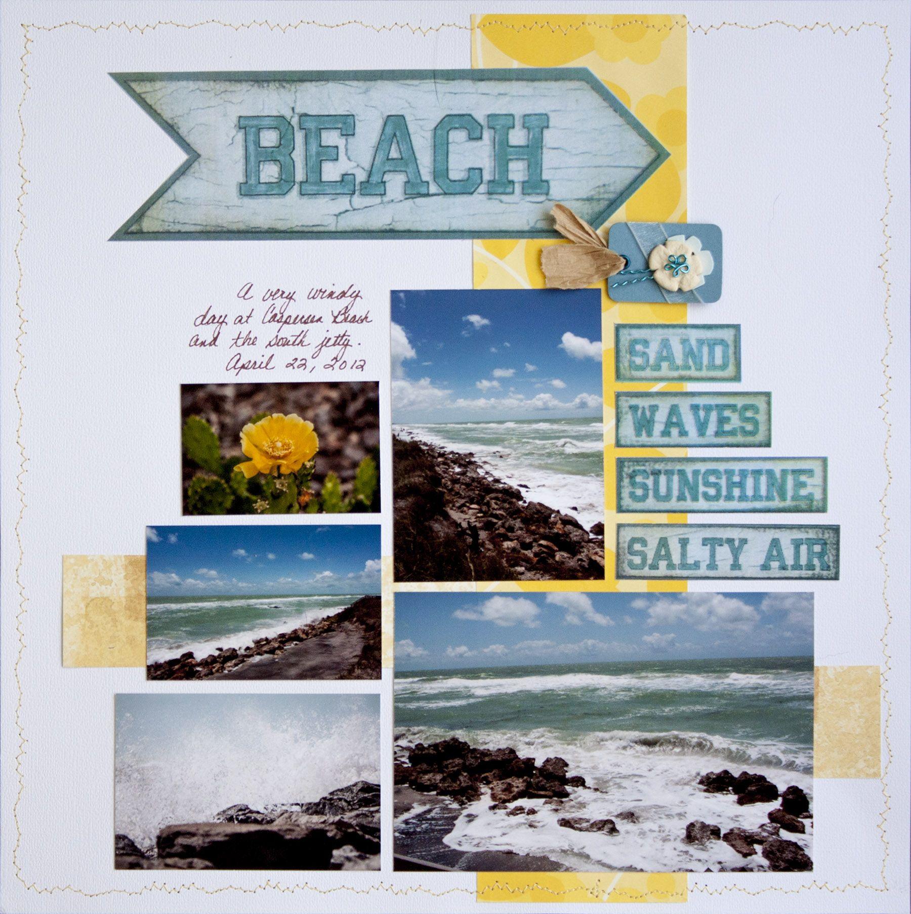 Scrapbook ideas hawaii -  Papercrafting Scrapbook Layout