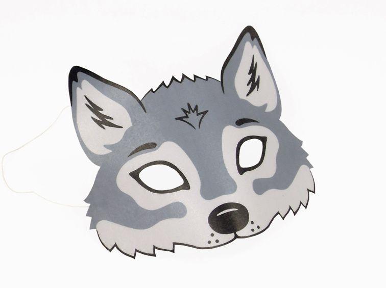Pin Von Nadine Auf Bastlwastl Wolf Maske Masken Basteln Und