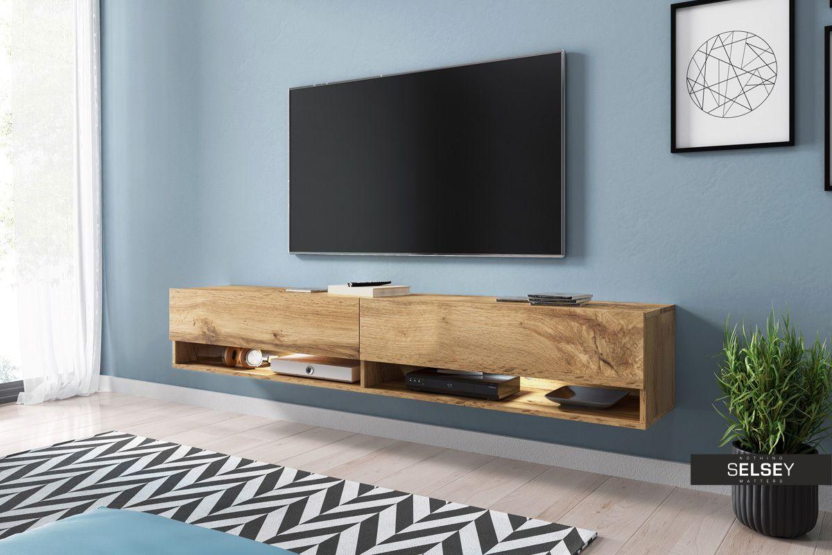 Szafka Rtv Wander 180 Cm Jest Idealnym Przykladem Optymalnego Polaczenia Nowoczesnego Wygladu I Funkcjonalnosci Selsey Hanging Tv Wall Mounted Tv Tv Cabinets