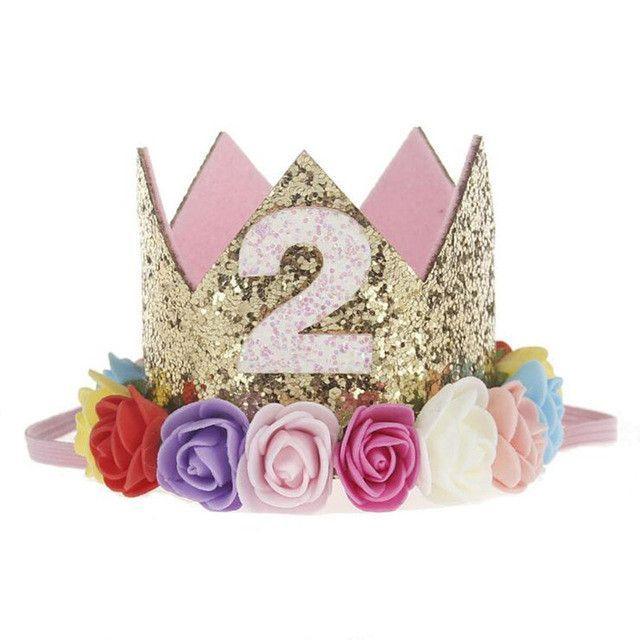 831a9842a51 Gold Crown Headband Tiara - Birthday