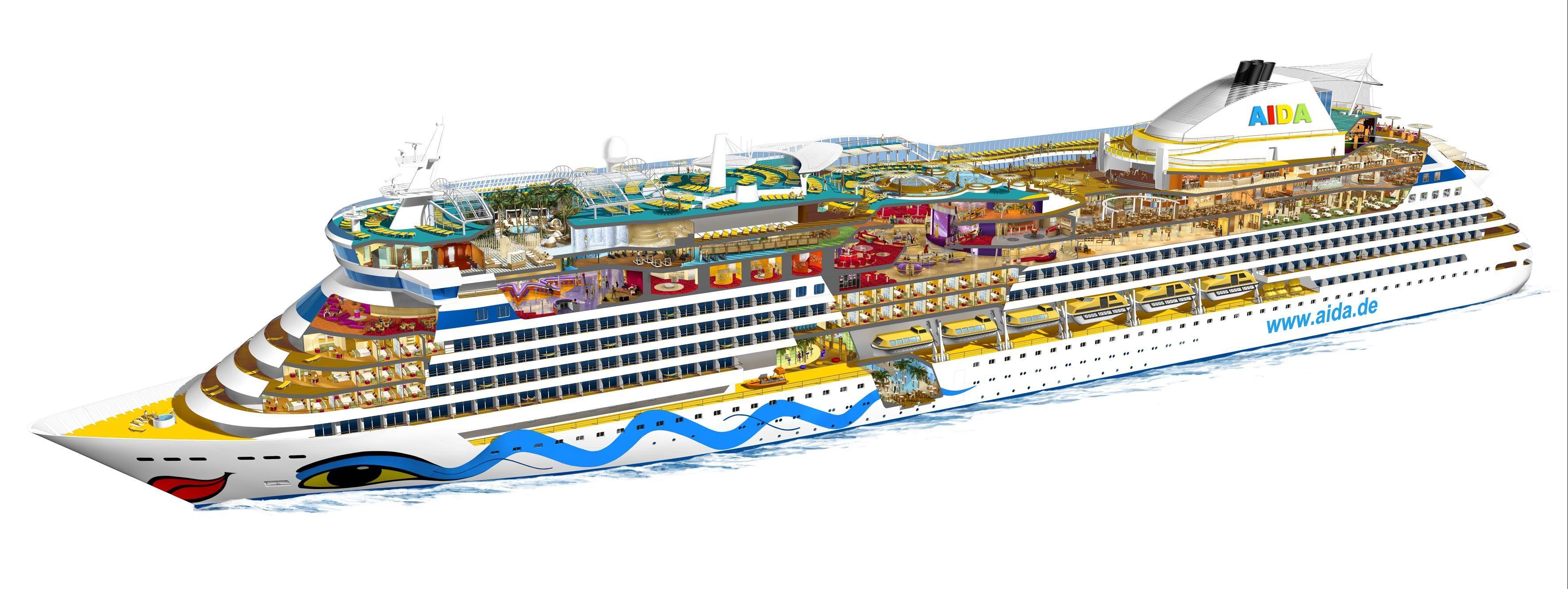 Kreuzfahrtschiff Aufbau