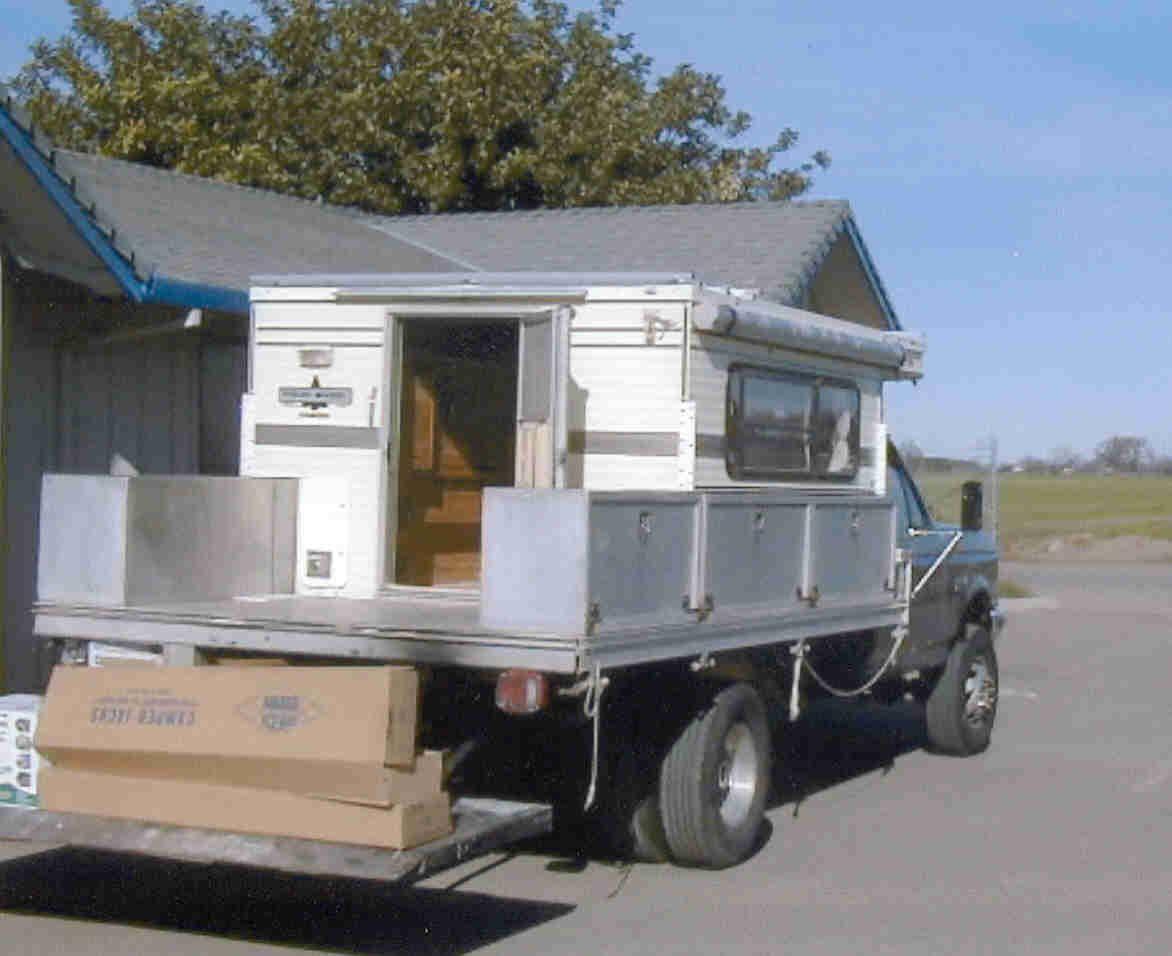 Flatbed Trucks Truck Camper Truck Camping Camper