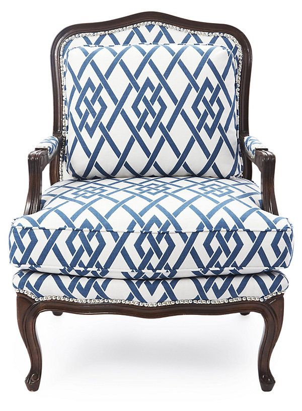 Harper Cotton Bergère, Royal Blue/White | Live in Color | One Kings ...