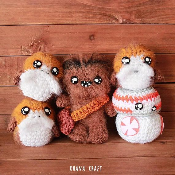 Star Wars Porg ,Star Wars inspired crochet doll, Star Wars Plushies ...