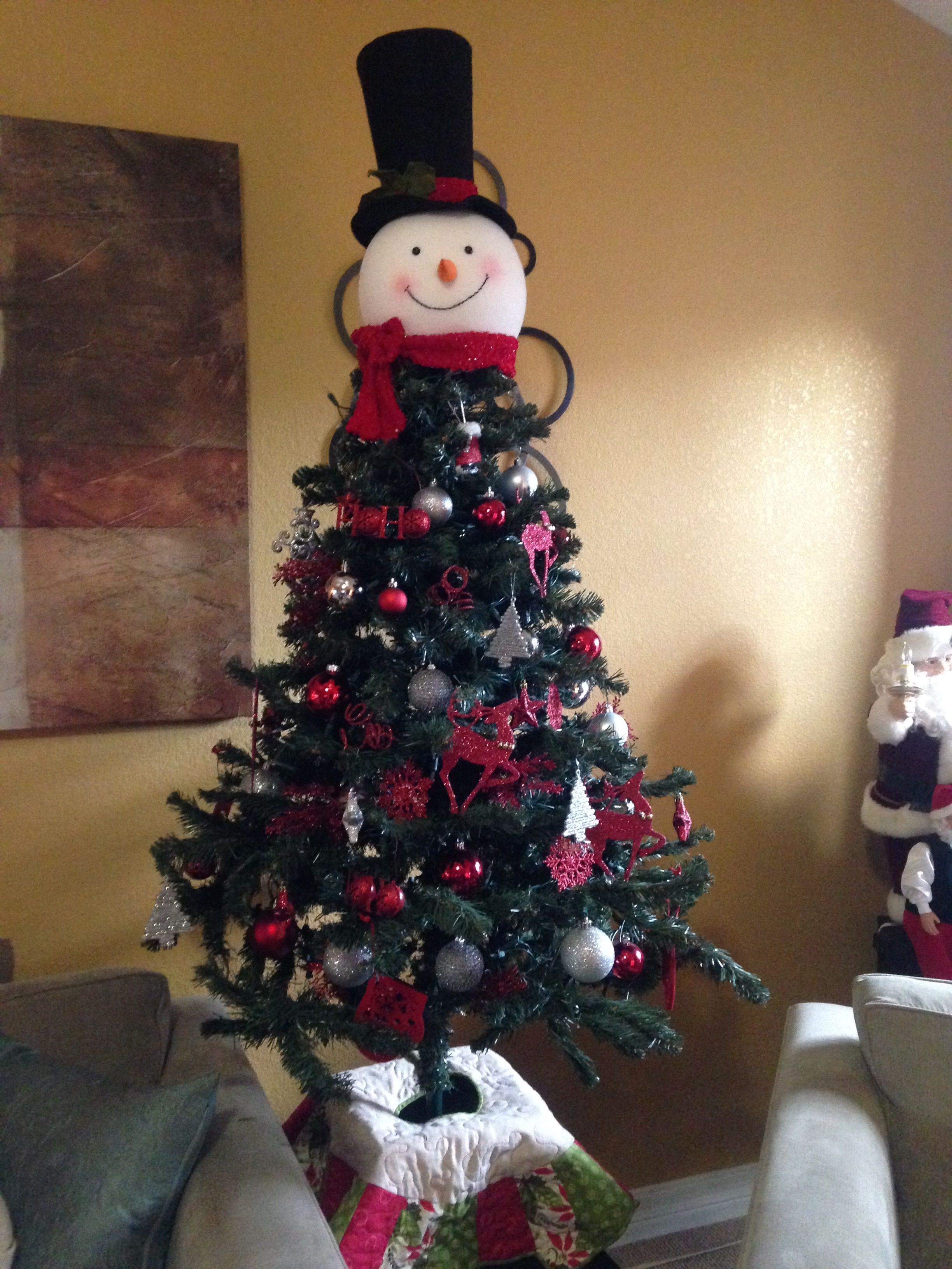 My Newest Tree Topper From Home Depot Christmas Tree Toppers Tree Toppers Snowman Tree