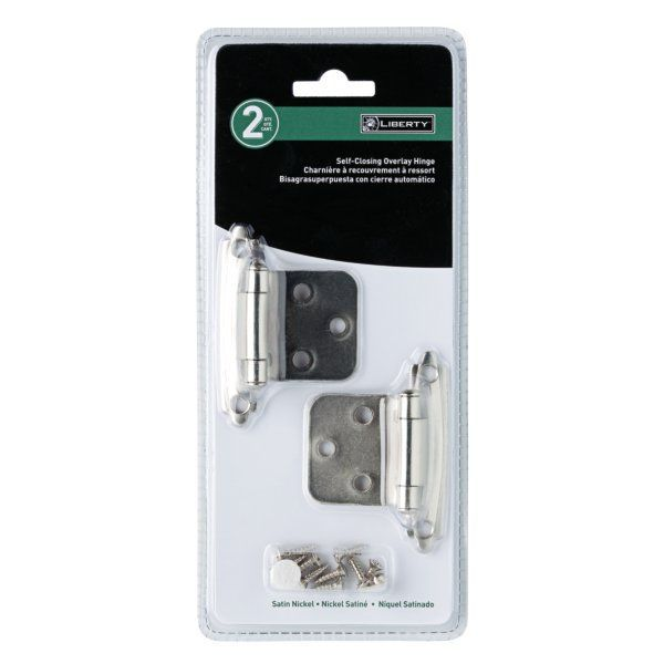 liberty hardware h0103bl-u steel constructed self-closing overlay