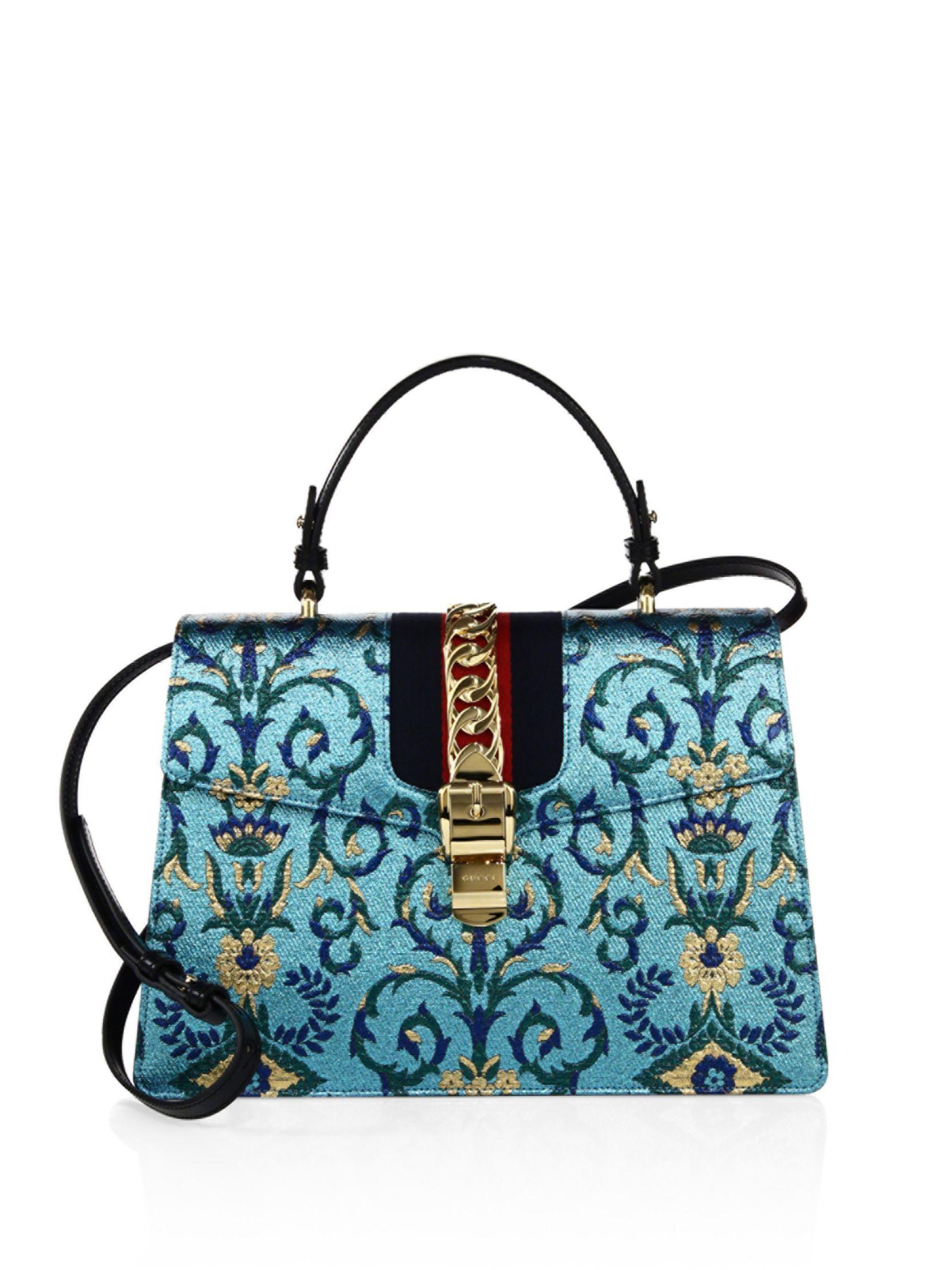 Gucci Sylvie Mini Brocade Top-Handle Bag swgPYeZ