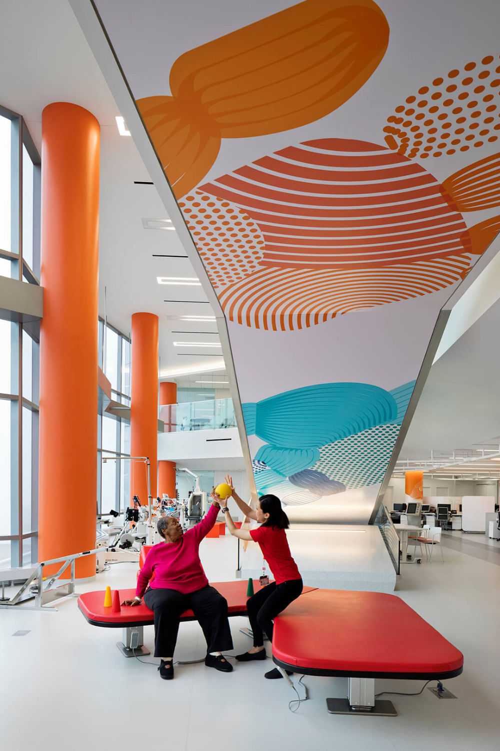 In this Chicago hospital, a colour per floor stimu