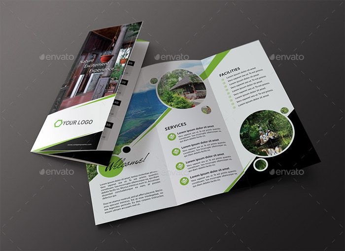 Travel Hotel Tri Fold Brochure Work Pinterest Tri Fold - Photoshop tri fold brochure template free