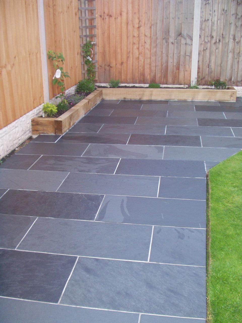 Pin by tim dare on garden pinterest gardens patios for Garden slab designs