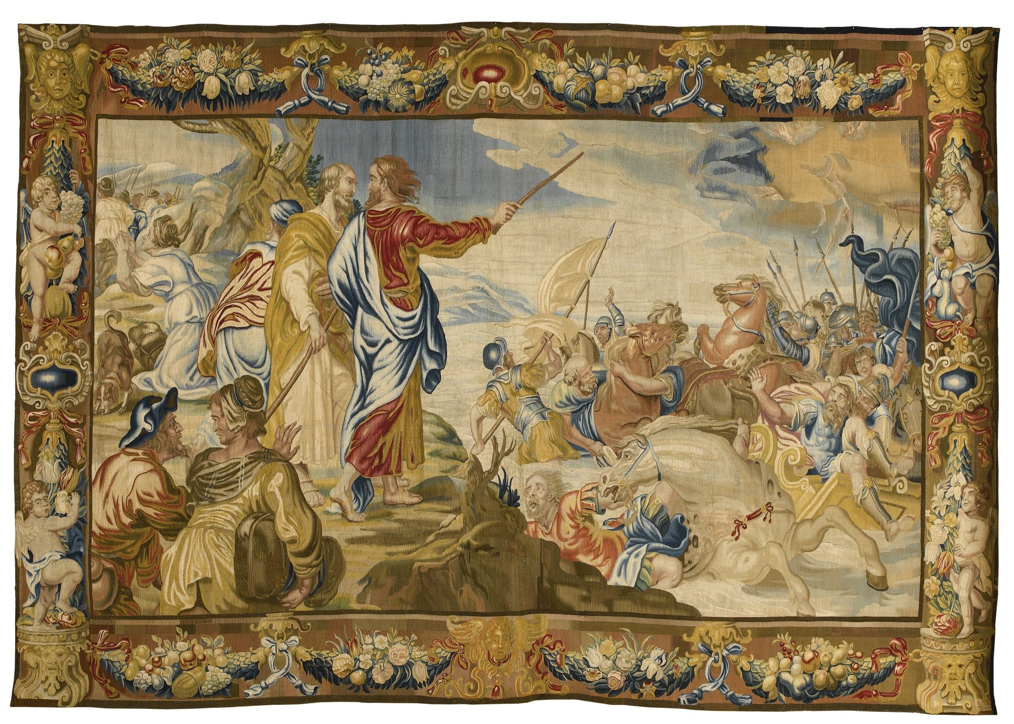 a flemish old testament tapestry depicting u0027the crossing of the