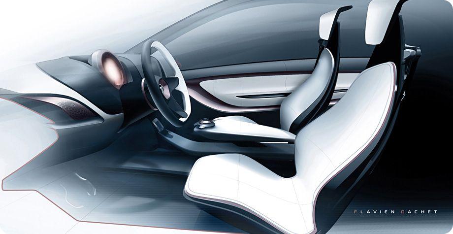 Tata Megapixel Concept Interior Design Sketch Car Body Design
