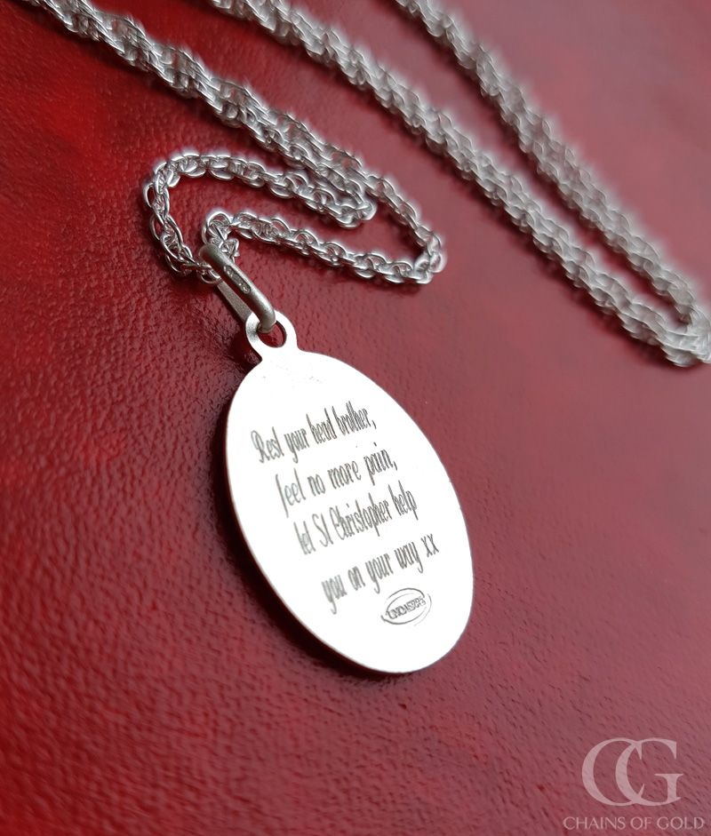 fd2ec04b89af9 Engraved St Christopher medal | Personalised Jewellery ...