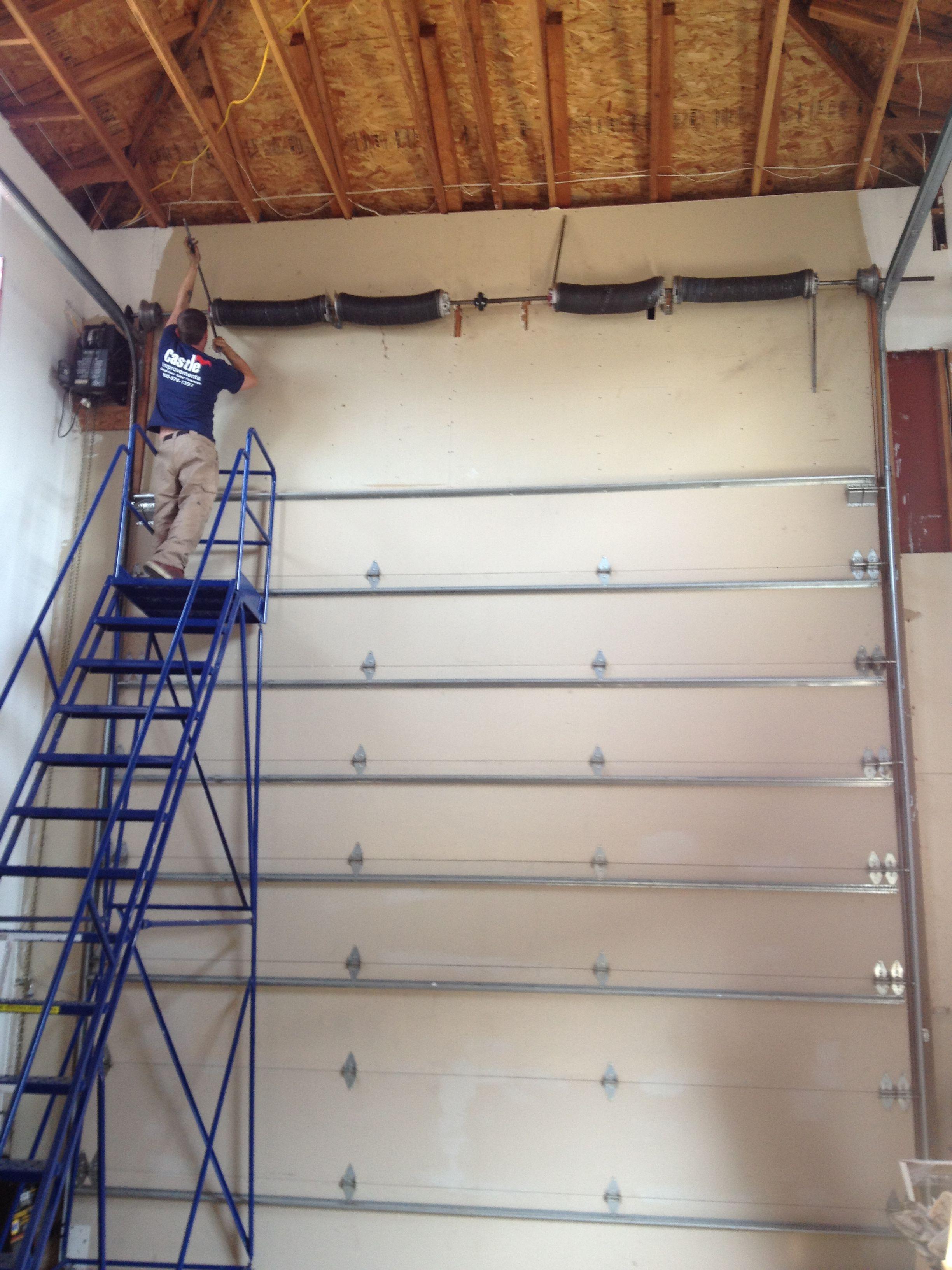 Replacing Broken Garage Door Springs On A 14 Tall Garage Door