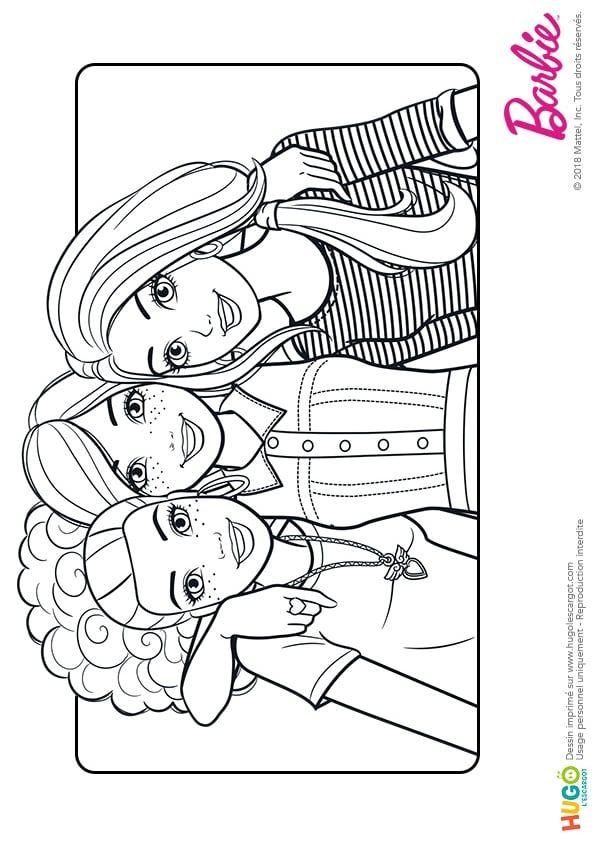 Coloriage De Barbie