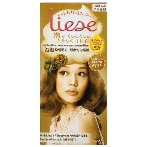 KAO Liese Bubble Hair Color Dye Easy Use and More Evenly Colored New Formula !! (Milk Tea Brown) * To view further for this item, visit the image link.