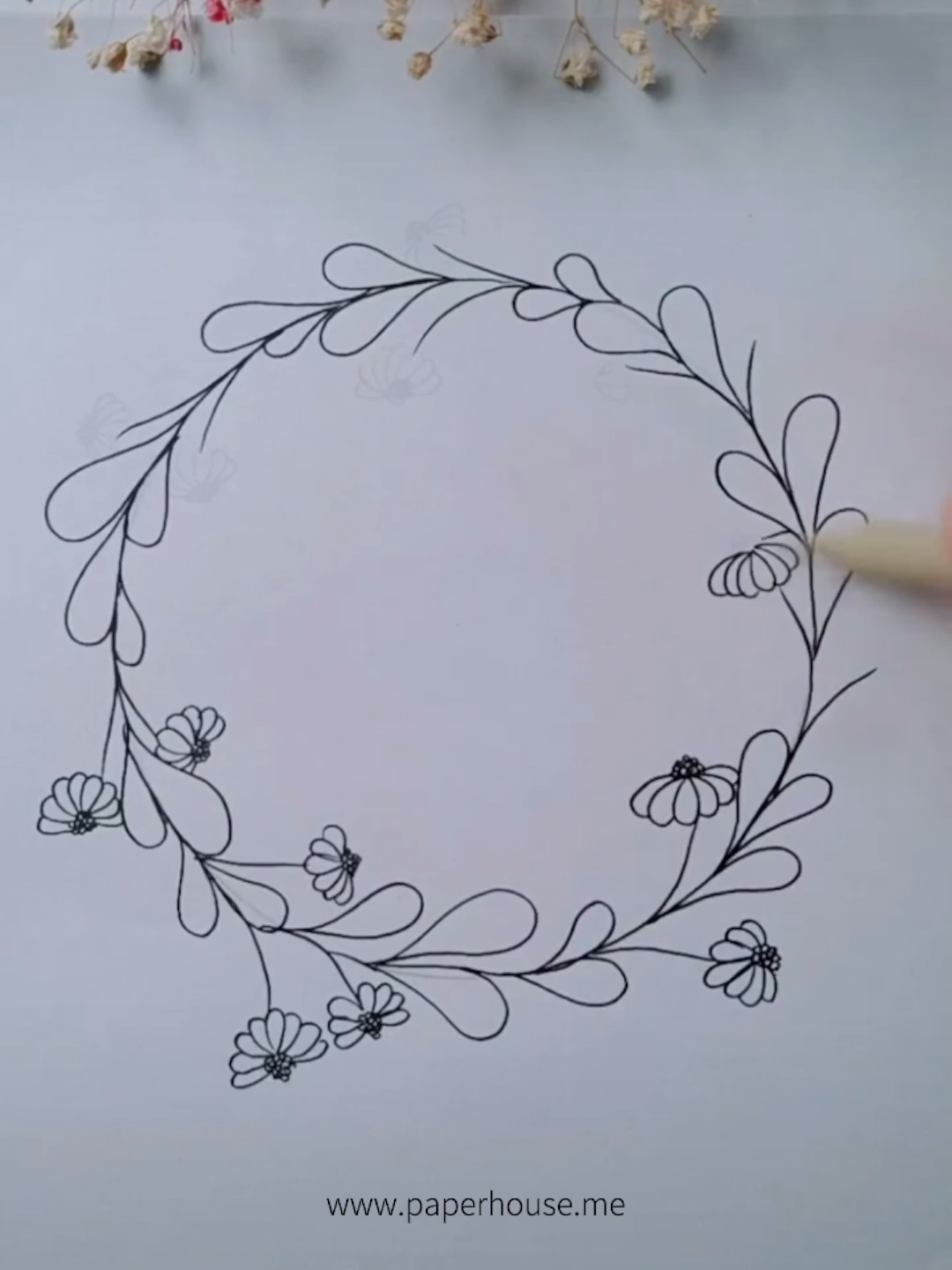 """Bujo Wreath Doodles�www.paperhouse.me�Get $3 with code """"PIN3""""�Paperhouse Stationery"""