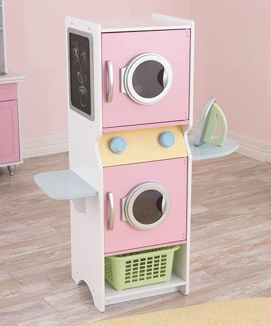 Pastel Laundry Play Set Cocina De Juguete De Madera Casa De