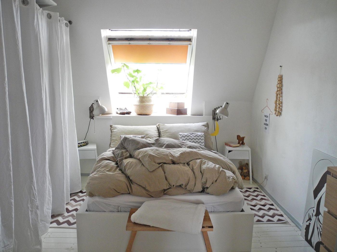 Kleine Schlafzimmer einrichten & gestalten   Sukkulente Topfe Deko