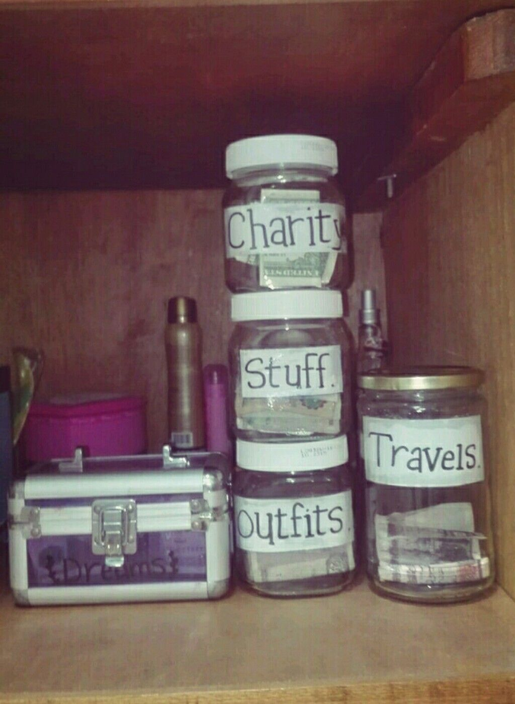 saving money in jars .. jars ideas. money jar ❤ | ideas | pinterest