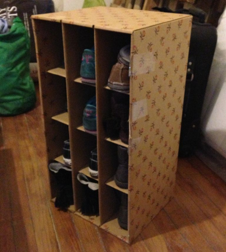 diy cardboard box shelves storage before after with fabric rh br pinterest com