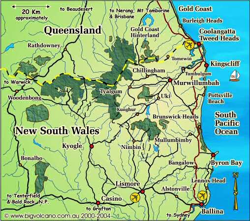 Gold Coast Brisbane Se Qld Nsw: Clickable Locality Map For The Ballina, Byron Bay, Tweed