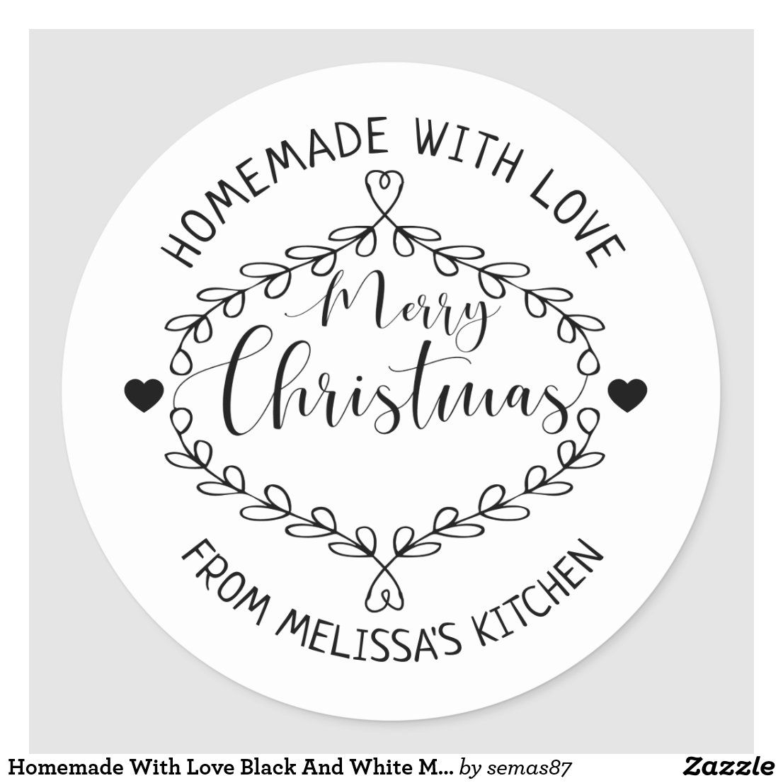 Green Buffalo Check Round Christmas Return Address Label Stickers Circle Labels Watercolor Personalized Holiday Return Address Stickers