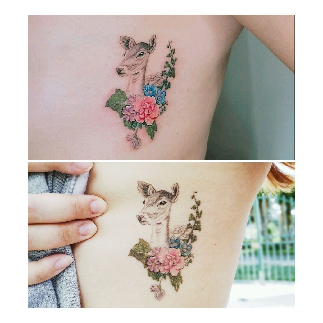 My fresh tattoo versus healed tattoo fresh tattoo