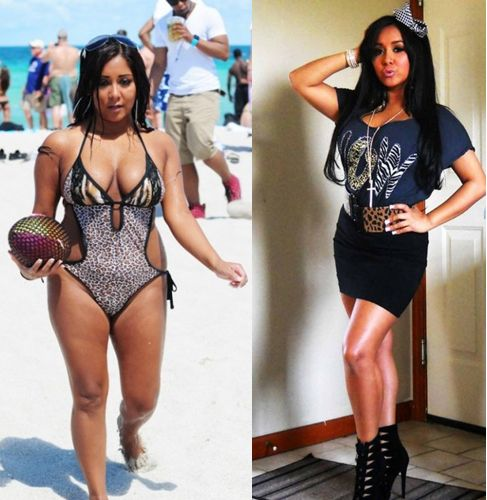 f3fcf85a5b5 Snooki was always one of the thicker girls on the cast of Jersey Shore and  even though she s pregnant with her first son.