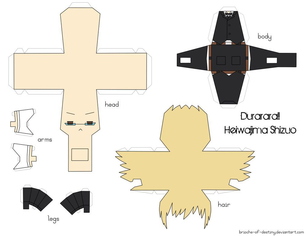 Anime Papercraft Templates  Heiwajima Shizuo Papercraft By