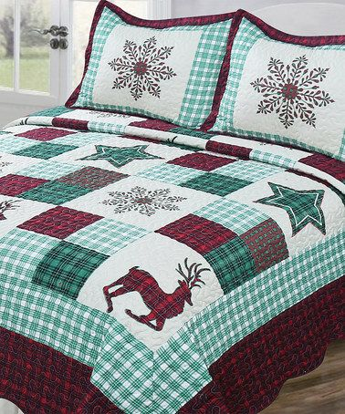 Another great find on #zulily! Vintage Collection Holiday Patch Quilt Set #zulilyfinds